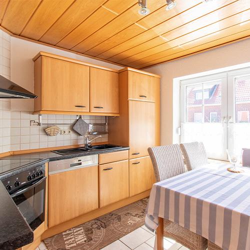 Ferienwohnung Seeteufel, Wohnung 1, Küche